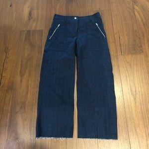 BNWOT Rag&Bone Cropped Raw Edge Trouser Jeans sz 2